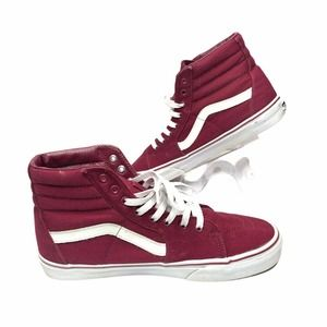 Vans Off The Wall Red  Canvas High Top Sneakers 11